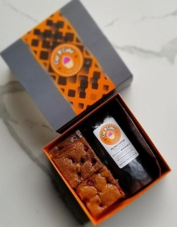 Brownie Vişneli 6 Dilim + Filtre Kahve