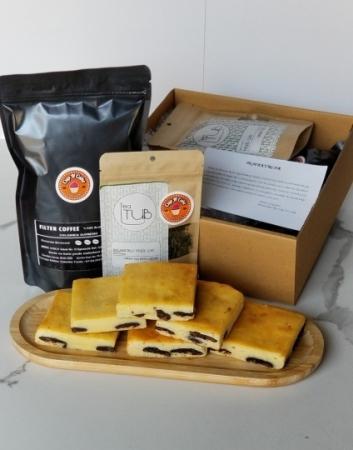 Brownie Beyaz Çikolata18 Dilim + Filtre Kahve