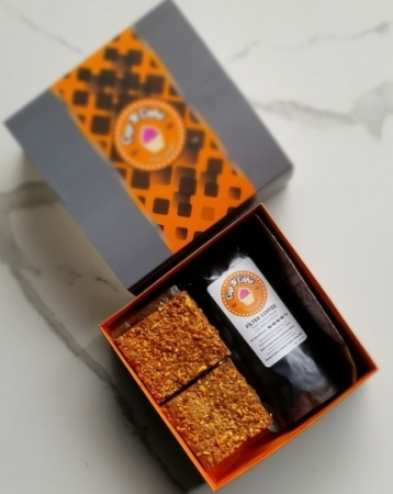 Brownie Yer Fıstık Karamel 6 Dilim + Filtre Kahve