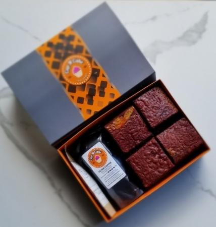 Brownie Red Velvet 12 Dilim + Filtre Kahve