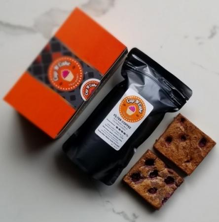 Brownie Vişne 2 Dilim + Filtre Kahve