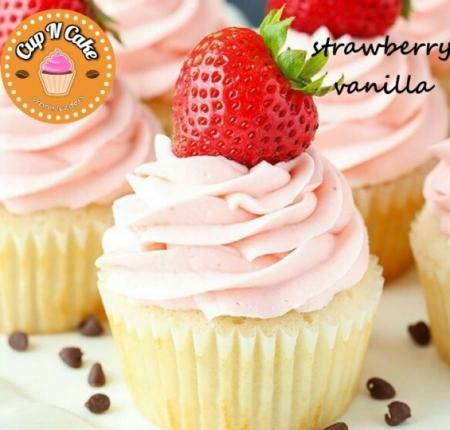 Strawberry Vanilla Cupcake - Çilek Vanilyalı