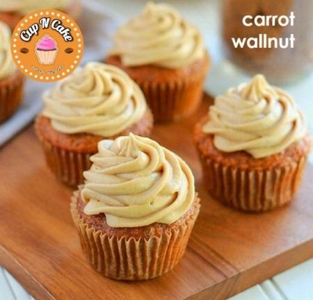 Carrot Wallnut Cupcake - Havuçlu Cevizli