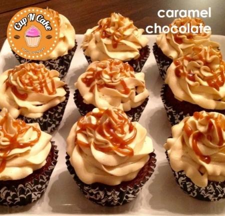 Caramel Chocolate Cupcake - Karamelli Çikolatalı