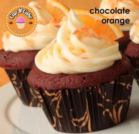 Chocolate Orange Cupcake - Çikolatalı Portakallı