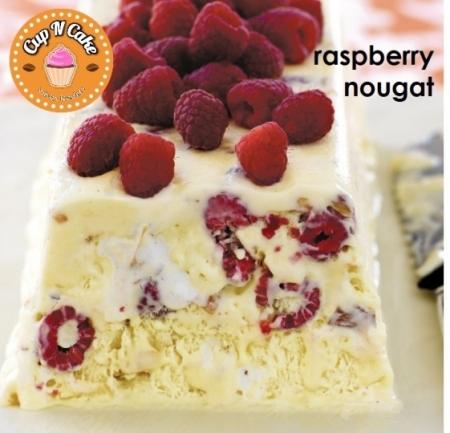 Raspberry Nougat Semifreddo - Frambuazlı Fındıklı