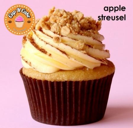 Apple Streusel Cupcake - Elmalı Tarçınlı