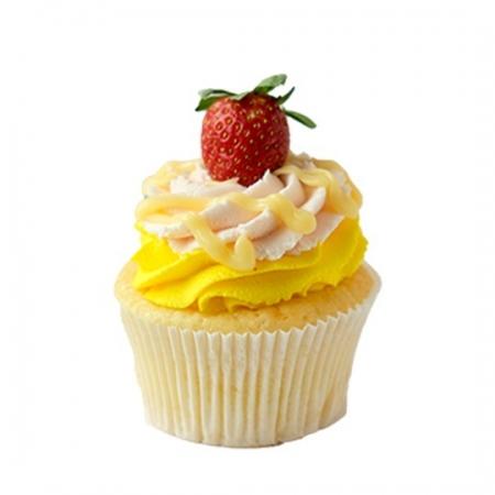 Çilek Limon Vanilya Cupcake